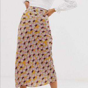 Free people midi silk skirt
